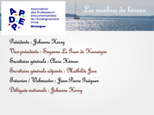 Les membres du bureau de l'APDEP Bretagne