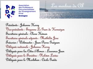 Les membres du CA de l'APDEP Bretagne